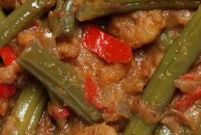 Sambal goreng boontjes (met garnalen)