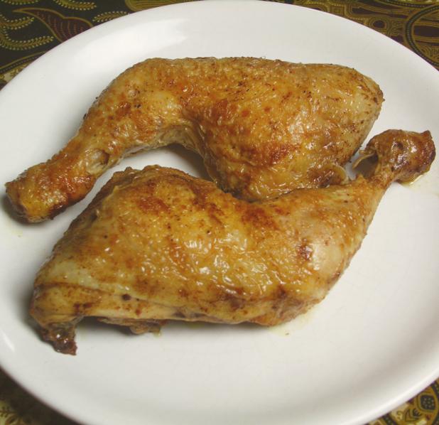 goudbruin gebakken kippenbouten