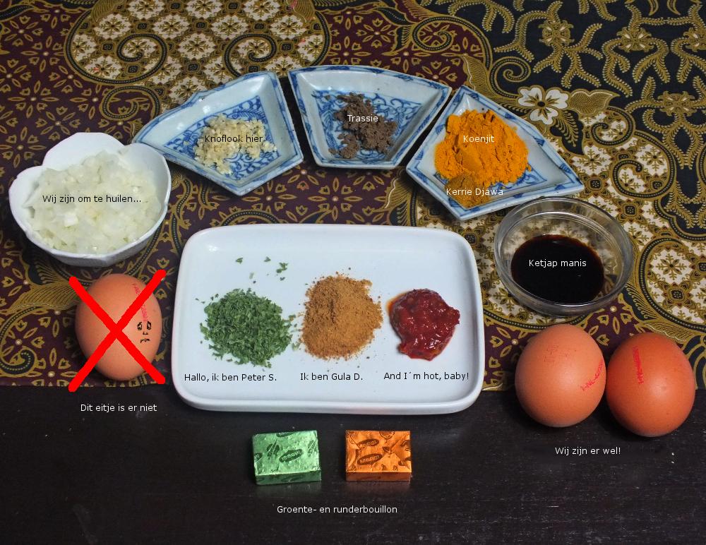 een paar ingrediënten