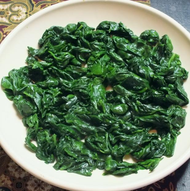 spinazie net uit de wadjan