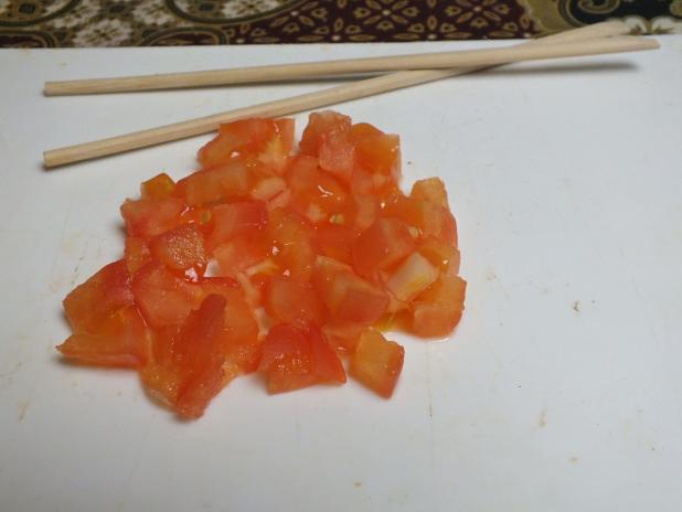 stukjes tomaat