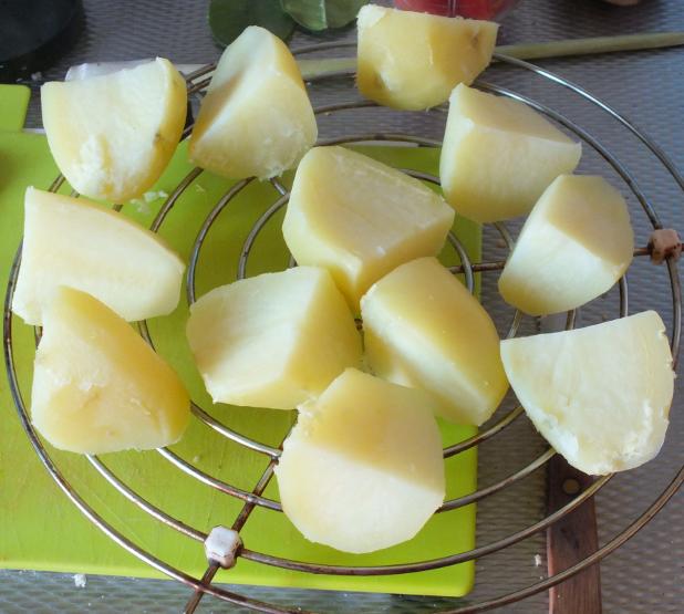 aardappels moeten afkoelen