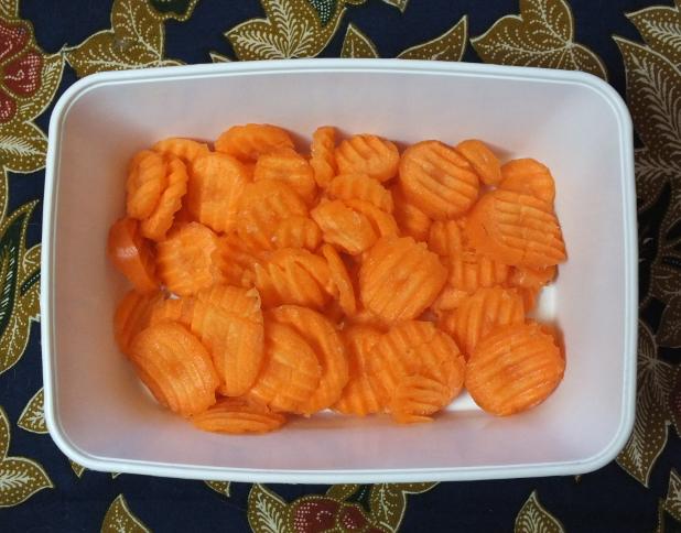 plakjes wortel
