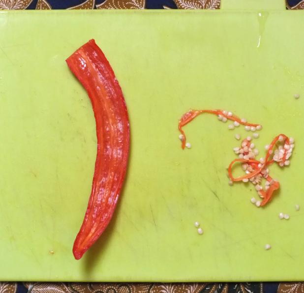 lombok zonder zaadlijst en pitjes