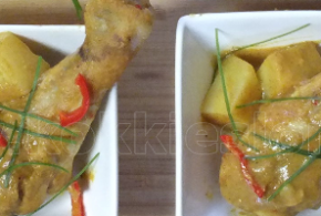 Kare ayam, Indische kip curry