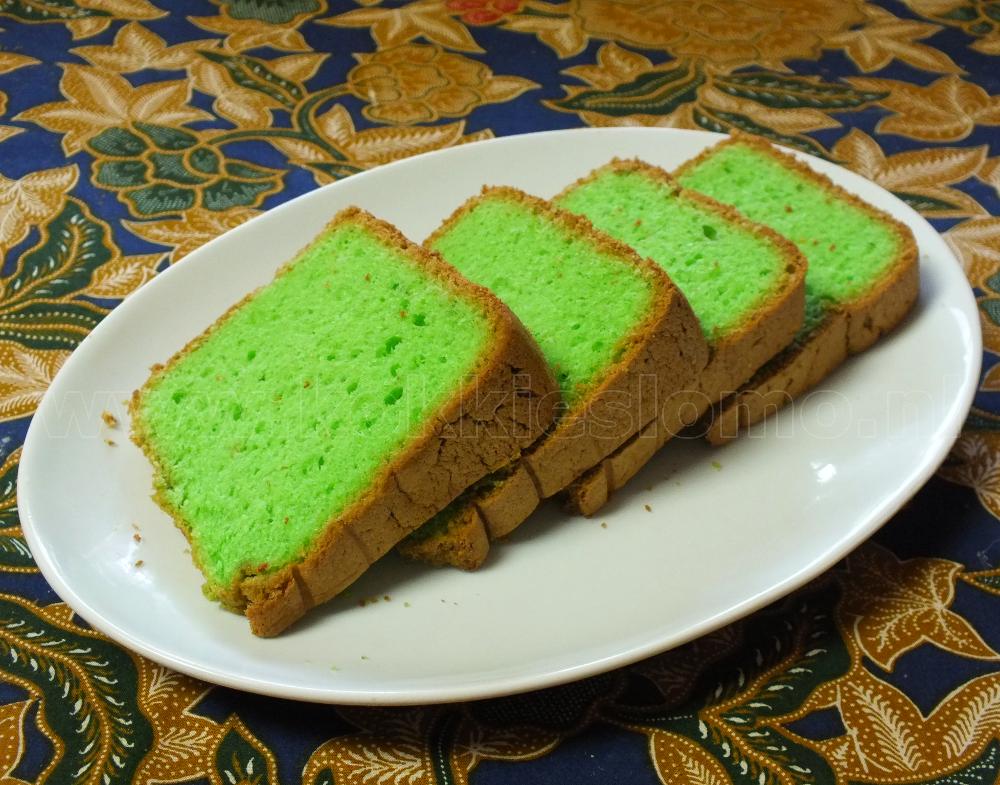 pandan cake van slomo